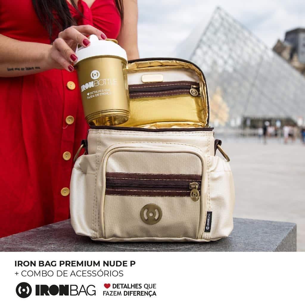 fbb78ed8e Bolsa Térmica Iron Bag Mini Premium Nude - Bolsa Térmica Fitness